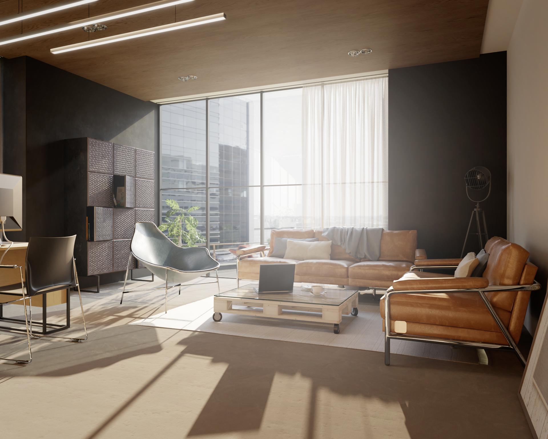 Biura, salony i pokoje